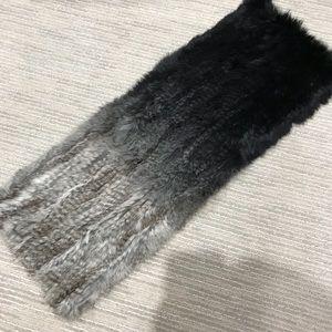 Accessories - Rabbit fur infinity scarf